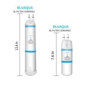 Whirlpool Refrigerator Water Filter 3 EDR3RXD1 4396710 4396841, Pur Filter 3, Kenmore 9030, 9083 (4-Pack)